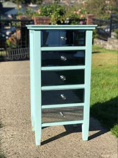 Tiffany colour mirrored dresser custom