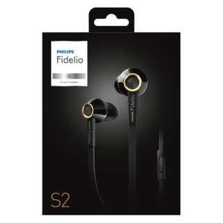 Philips Fidelio S2BK In-Ear Headsets Earbuds