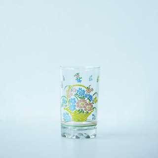 Flower in a Basket print Glass