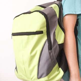 Green and Gray Backpack