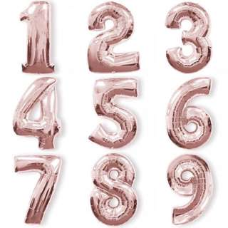 "🚚 32"" Rose Gold Foil Number Balloons"