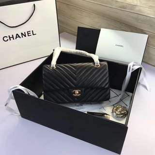 chanel chevron 100% real lambskin full set 5A boutique quality
