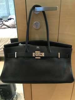 Hermes Shoulder Birkin Black 99% new