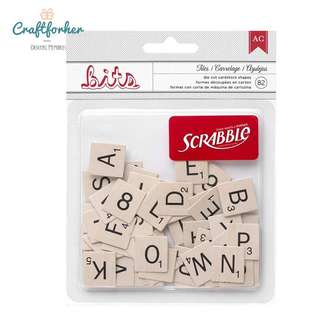 🚚 ★Die-Cuts★ 82pcs Printed Cardstock Shape for Alphabets, Letters, Numbers