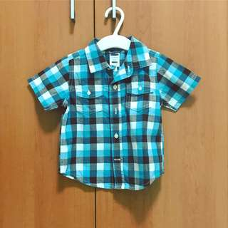 GYMBOREE FACTORY OUTLET CHECKERED SHIRT 12-18MOS