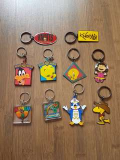 Assorted Keyrings Keychains