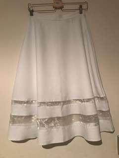MISS SELFRIDGE White Midi A-Line Skirt - Worn Once