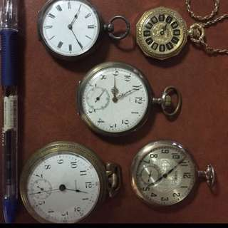 Lot of 5 vintage watches , all functioning but some need service