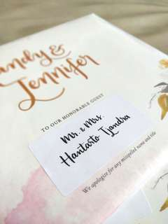 Wedding Envelope Guest Name Label Calligraphy