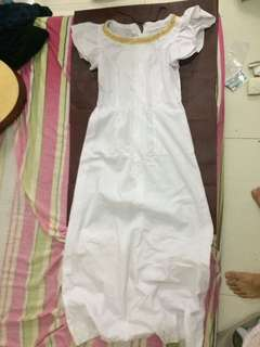 Long White Dress Can be used as White Lady Costume