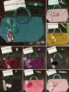 Authentic LONGCHAMP NEO (with Twilly & Rodeo/Rose Charm)