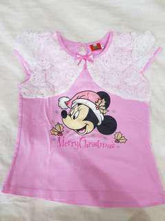 Kaos anak minnie mouse