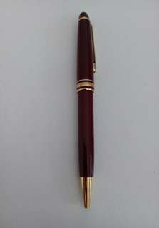 Montblanc Gold-plated Meisterstueck Ballpoint Pen in Burgundy