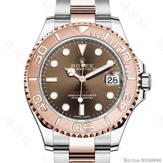 ROLEX 268621_CHOCOLATE YACHT-MASTER 37 OYSTER 37MM STEEL AND EVEROSE GOLD