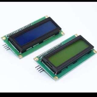 LCD Display 1602 I2C Blue or Green Screen