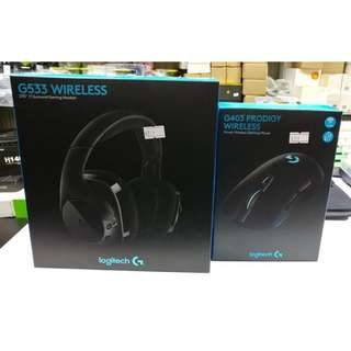 Logitech BUNDLE Promotion! G533 Wireless Headset + G403 Wireless Mouse @ $199 (U.P $388)
