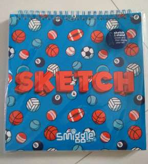 BN Smiggle Sketch & stand notebook