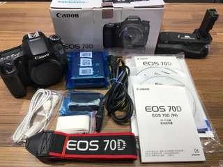 🚚 曙光數位 Canon 70D Body 單機身+電池手把