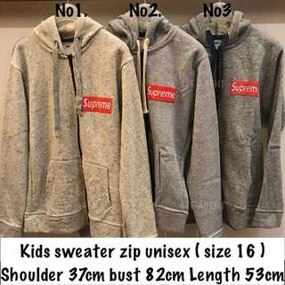 Kids Zip Longsleeve Sweater
