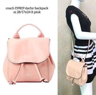 coach darby backpack crossbody sz 28/17x24 Light Pink