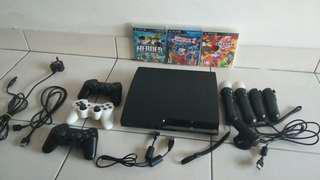 PlayStation 3 + PS Move + 3 Games