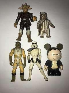Star Wars 5pcs action figures