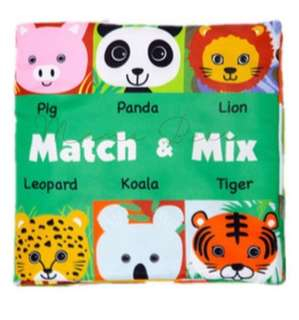 Match and Mix Children Learning Soft Cloth Book