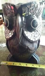 貓頭鷹木雕