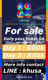 Tiket WTF Daily Pass (GA) Day 1