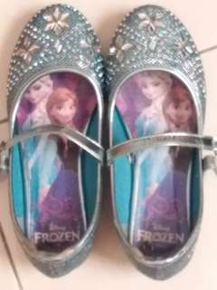 Girly Frozen bling shoes for 7 - 9 years old