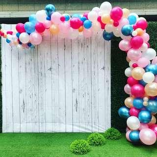 Balloon backdrop organic arch helium balloon balloon deco