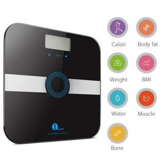 (512) Body Fat Scale Body Scale Bathroom Scale with Tempered Glass