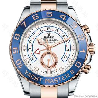 ROLEX 116681_WHITE YACHT-MASTER II OYSTER 44MM STEEL AND EVEROSE GOLD