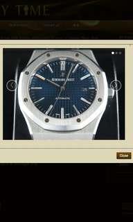 "Audemars PiguetRoyal Oak Jumbo Automatic 41mm ""J"" Series ""Blue"" Dial 15400"