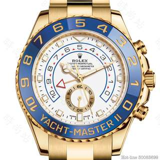 ROLEX 116688_WHITE YACHT-MASTER II OYSTER 40MM YELLOW GOLD