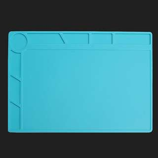 34x23cm Heat Resistant Silicone Pad Desk Mat Maintenance Platform Heat Insulation BGA Soldering Repair Station with 20 cm Scale Ruler