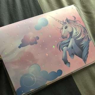 Brand new unicorn post it pad // birthday // party