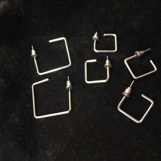 🚚 方形個性耳環