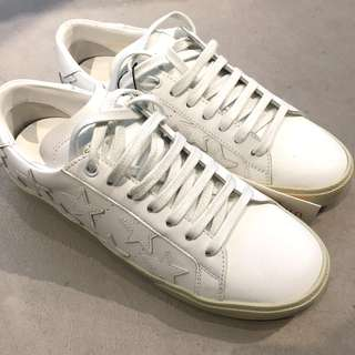 Saint Lauren White Stars Court Classic Sneakers
