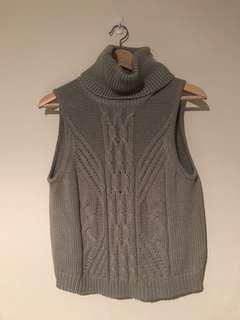 ALL ABOUT EVE Knitted Sleeveless Turtleneck - Worn Once
