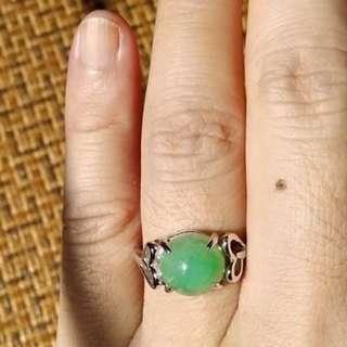 陽綠翡翠戒子(天然A貨翡翠)---RG-001
