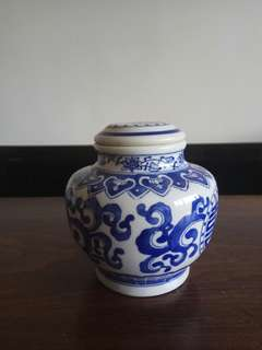 China bone jar 6x6 inches tall and wide