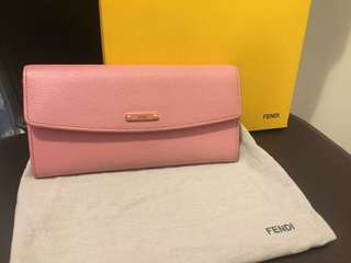 Fendi fold over purse 100% authentic (with dustbag , original receipt , cert , box and Fendi paperbag)
