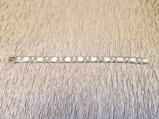 18k白金鑽石手鍊
