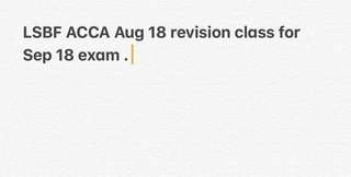 LSBF ACCA revision class