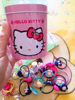 Hello Kitty 3D Hair Ties 40pcs Assorted Colours & Designs
