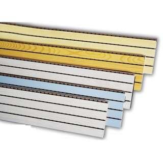 深水埗地舖門市 12.8CM X 244CM 槽木吸音板 (15MM厚) 隔音棉板 消音板 牆體 門窗吸音板 天花吸音木 吸音板 槽木板 槽木吸音板 吸音板 吸聲裝飾材料。具有吸音、環保、隔熱、保溫、防潮、防霉變、易除塵、易切割、可拼花、施工簡便、穩定性好、抗衝擊能力好、獨立性好、性價比高等優點,有豐富多種的顏色可供選擇,可滿足不同風格和層次的吸音裝飾需求。