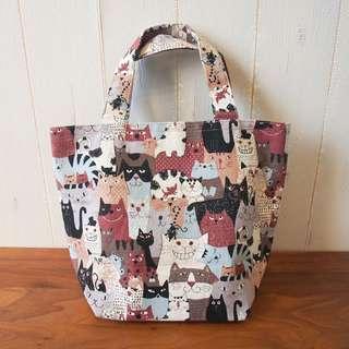 日本京都市集手作handmade布袋tote bag貓貓