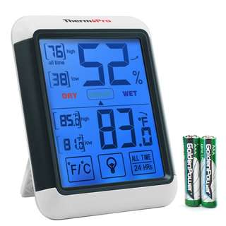 1419. ThermoPro TP55 Digital Hygrometer Indoor Thermometer Humidity Gauge with Jumbo Touchscreen and Backlight Temperature Humidity Monitor