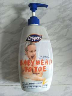 Drypers baby head to toe wash